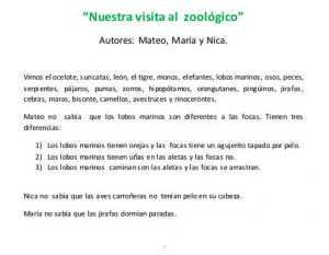 Zoo mateo  maria y nica